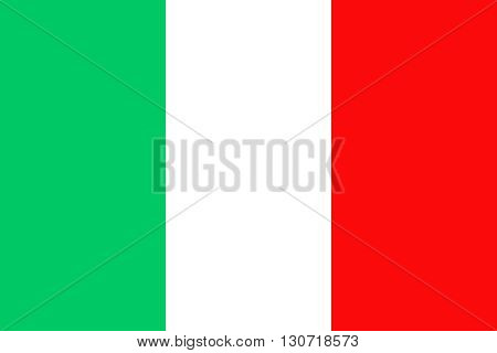 Flag of Italy. Italy flag vector illustration.