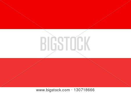Flag of Austria. Austria flag vector illustration.