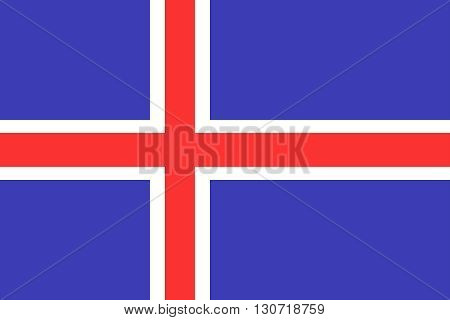 Flag of Iceland. Iceland flag vector illustration.