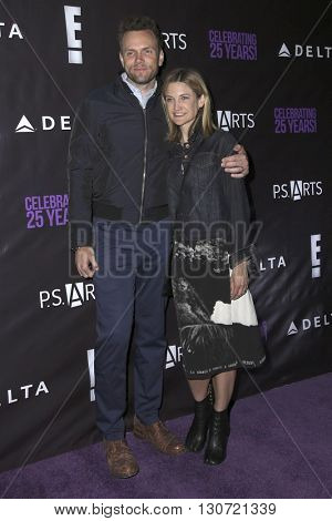 LOS ANGELES - MAY 20:  Joel McHale, Sarah Williams at the PS Arts - The Party at NeueHouse Hollywood on May 20, 2016 in Los Angeles, CA
