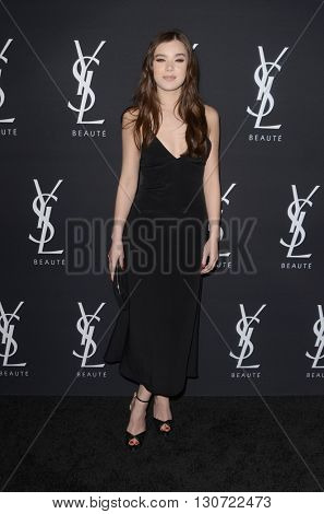 LOS ANGELES - MAY 19:  Hailee Steinfeld at the Zoe Kravitz Celebrates Her New Role With Yves Saint Laurent Beauty at Gibson Brands Sunset on May 19, 2016 in West Hollywood, CA