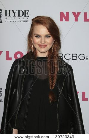 LOS ANGELES - MAY 12:  Madelaine Petsch at the NYLON Young Hollywood May Issue Event at HYDE Sunset on May 12, 2016 in Los Angeles, CA