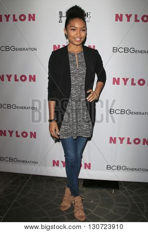 LOS ANGELES - MAY 12:  Yara Shahidi at the NYLON Young Hollywood May Issue Event at HYDE Sunset on May 12, 2016 in Los Angeles, CA
