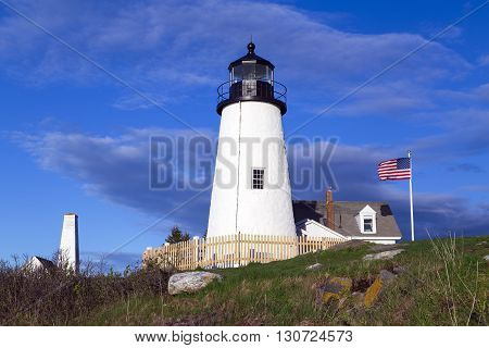 This is Pemaquid Point Light in Bristol, Maine.