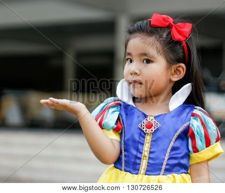 Potrait Princes Dress With Cute Asian Girl
