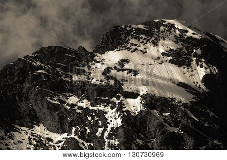 Eiger, Grindelwald, Swiss Alps - snow capped mountains and deep valleys stunning view breath-taking panorama