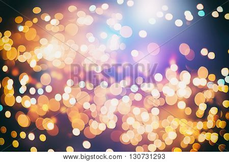 Turquoise and pink texture with background with twinkling lights