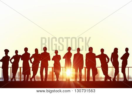 Group of businesspeople in row