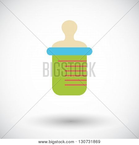 Feeding bottle icon. Flat vector related icon for web and mobile applications. It can be used as - logo, pictogram, icon, infographic element. Vector Illustration.