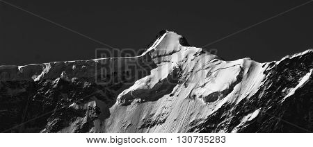 Bernese Alps, Swiss mountains - snow capped mountains and deep valleys stunning view breath-taking panorama