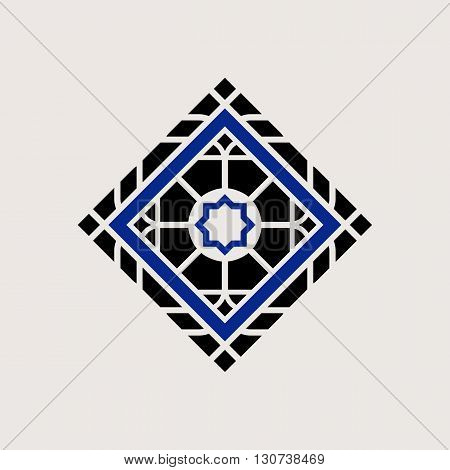 Traditional asian ornament. Vector arabic geometric symbol