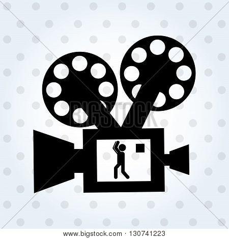 video camera design, vector illustration eps10 graphic
