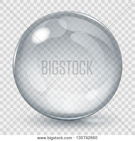 Big Transparent Glass Sphere