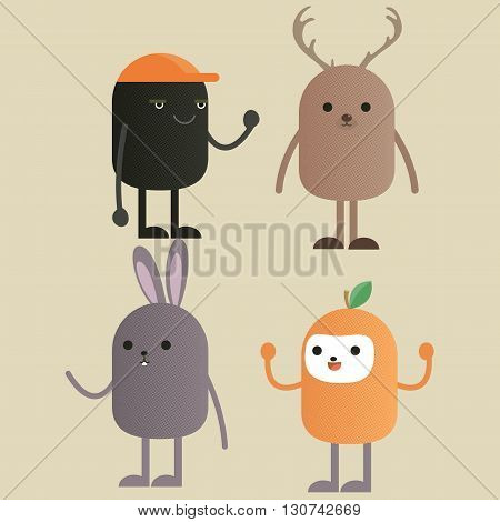 Cute pet cartoon character , capsule cartoon character