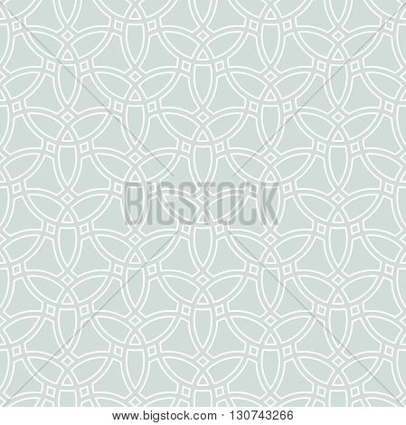 Seamless vector light blue and white ornament. Modern geometric pattern with repeating elements