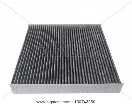 new carbon car air conditioner filter isolated on white backgroundAuto parts and accessories