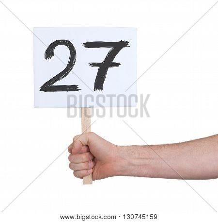 Sign With A Number, 27