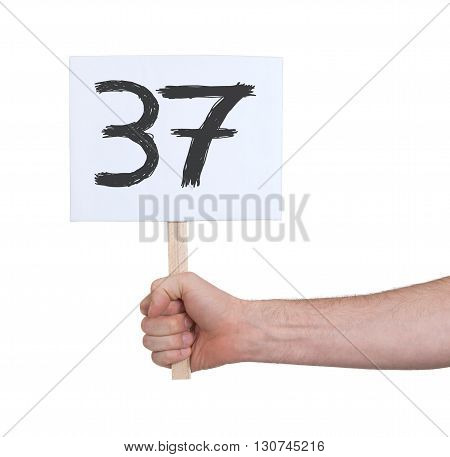 Sign With A Number, 37