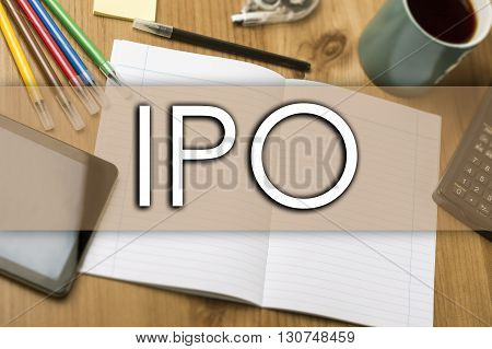 Ipo - Business Concept With Text