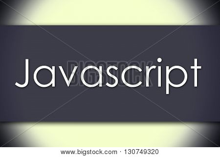 Javascript - Business Concept With Text