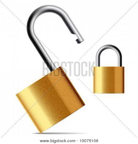 Vector padlock