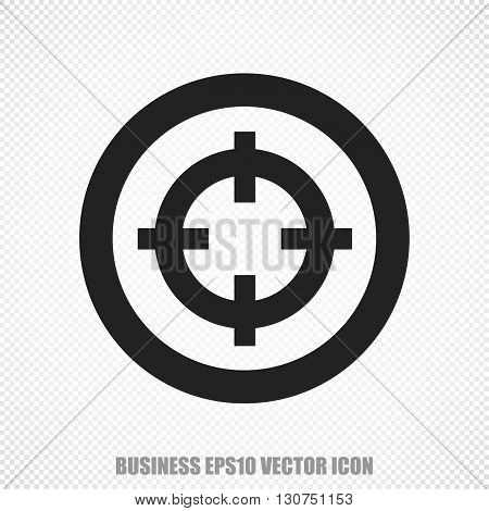 The universal vector icon on the business theme: Black Target. Modern flat design. For mobile and web design. EPS 10.