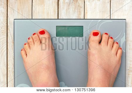 Feet On Scales Without Text