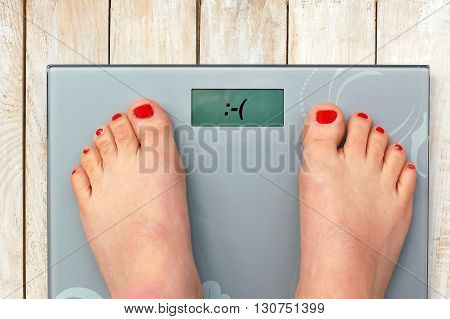 Feet On Scales With Emoticon