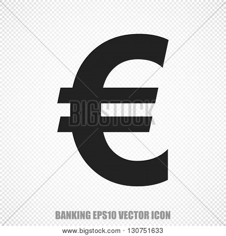 The universal vector icon on the banking theme: Black Euro. Modern flat design. For mobile and web design. EPS 10.