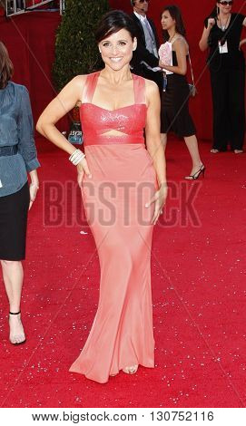 Julia Louis-Dreyfus at the 60th Primetime Emmy Awards held at the Nokia Theater in Los Angeles, USA on September 21, 2008.