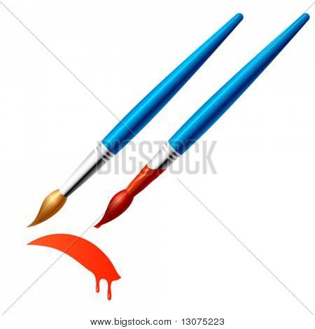 Vector paintbrush.