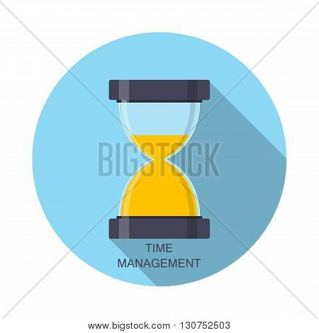 Hourglass, Sandglass Icon in Flat Style. Vector Illustration EPS10