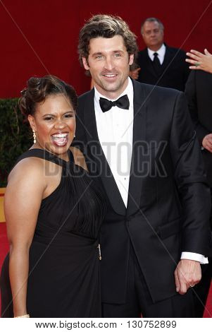 Patrick Dempsey and Chandra Wilson at the 60th Primetime Emmy Awards held at the Nokia Theater in Los Angeles, USA on September 21, 2008.