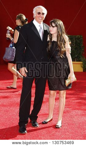 Larry David at the 60th Primetime Emmy Awards held at the Nokia Theater in Los Angeles, USA on September 21, 2008.