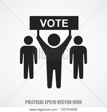 The universal vector icon on the politics theme: Black Election Campaign. Modern flat design. For mobile and web design. EPS 10.