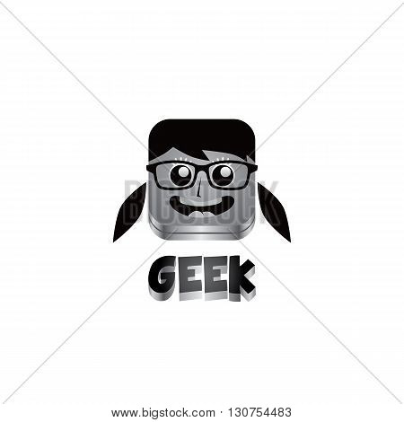 Geek Girl Avatar Portrait