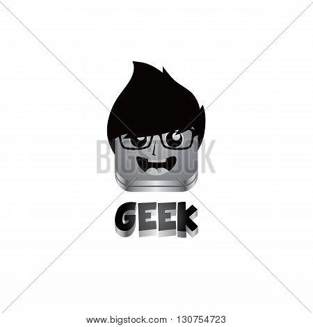 Geek Guy Avatar Portrait
