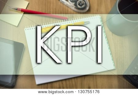 Kpi -  Business Concept With Text