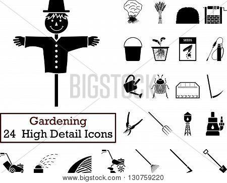 Set Of 24 Gardening Icons