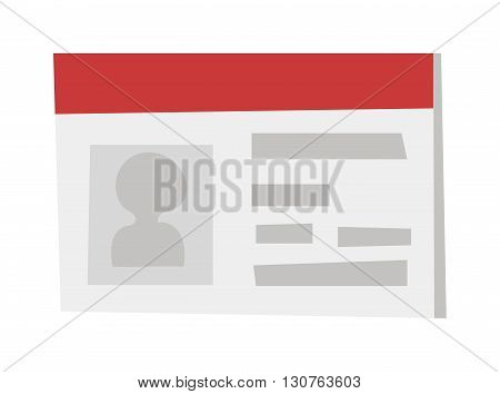 Identification card icon ID card. Vector illustration ID card and ID card business identity icon. ID card icon template badge, ID card tag plastic design. Identification personal contact blank card.