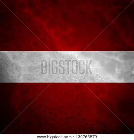 Flag of Austria. Amazing stone texture with coloration.