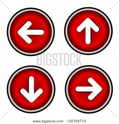 Seth arrows  flat icons on white background