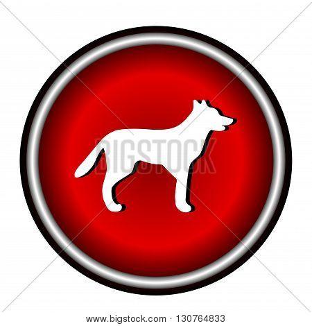 Dog flat icon on white background, vector illustration