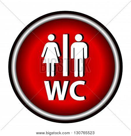 WC Icon. WC Icon Vector. WC Icon eps. WC Icon Image. WC icon simple.