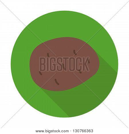 Potato Flat Circle Icon