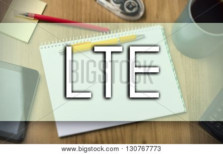 Lte -  Business Concept With Text