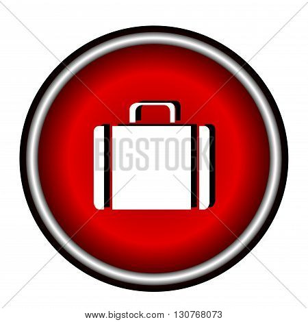 Vector flat icon suitcase on white background
