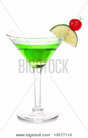 Green Melon Ball Martini Cocktail With Vodka