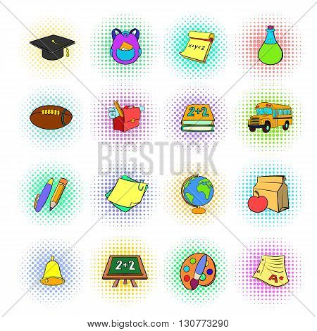 School icons set use for any design