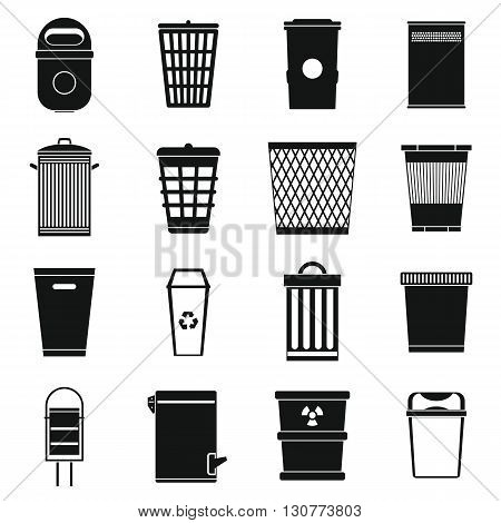 Trash can icons set use for any design